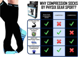 Compression Socks For Men & Women 20-30 Mmhg - Athletic Fit