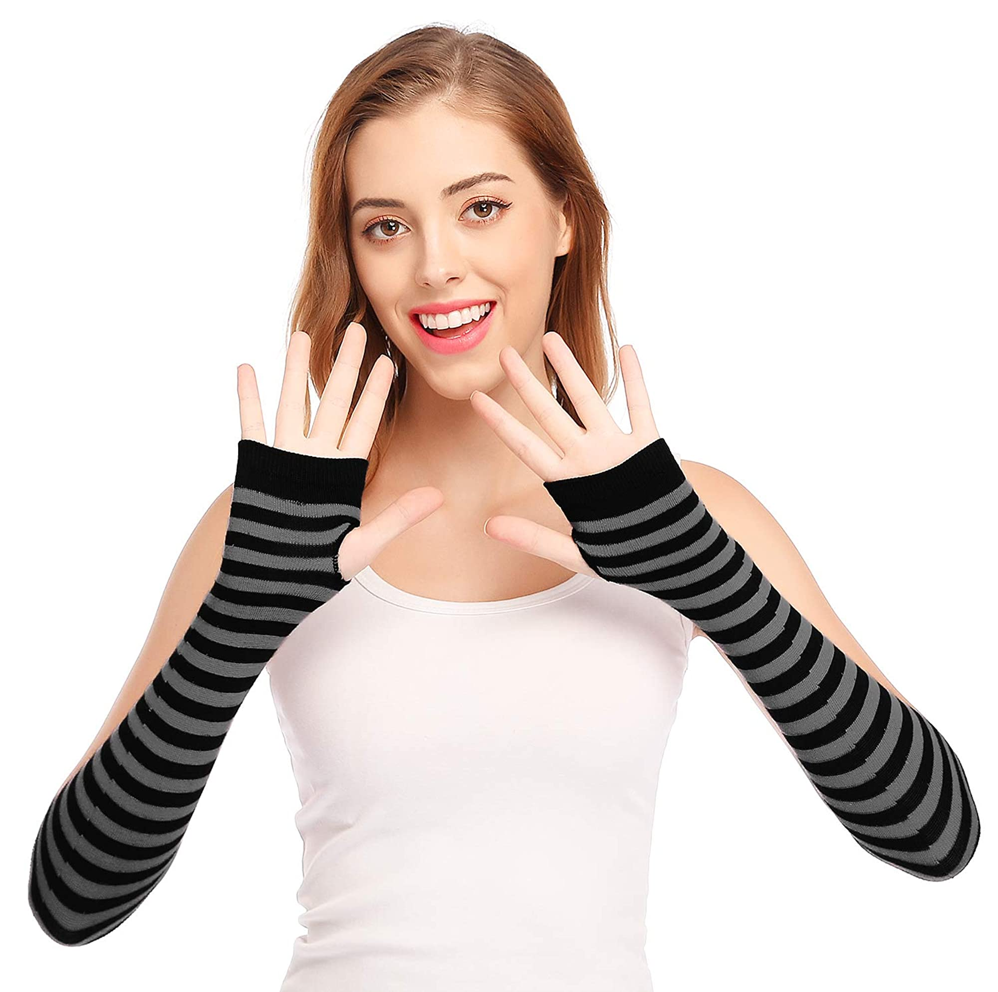 Punk Gothic Design Fingerless Gloves