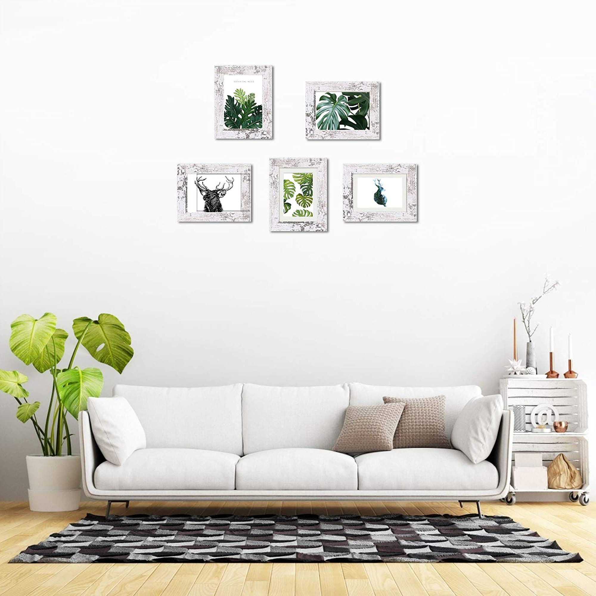 Wood Pattern Photo Frames For Wall