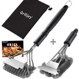 Bbq Cleaner Set Grill Brush With Scraper For All Grates