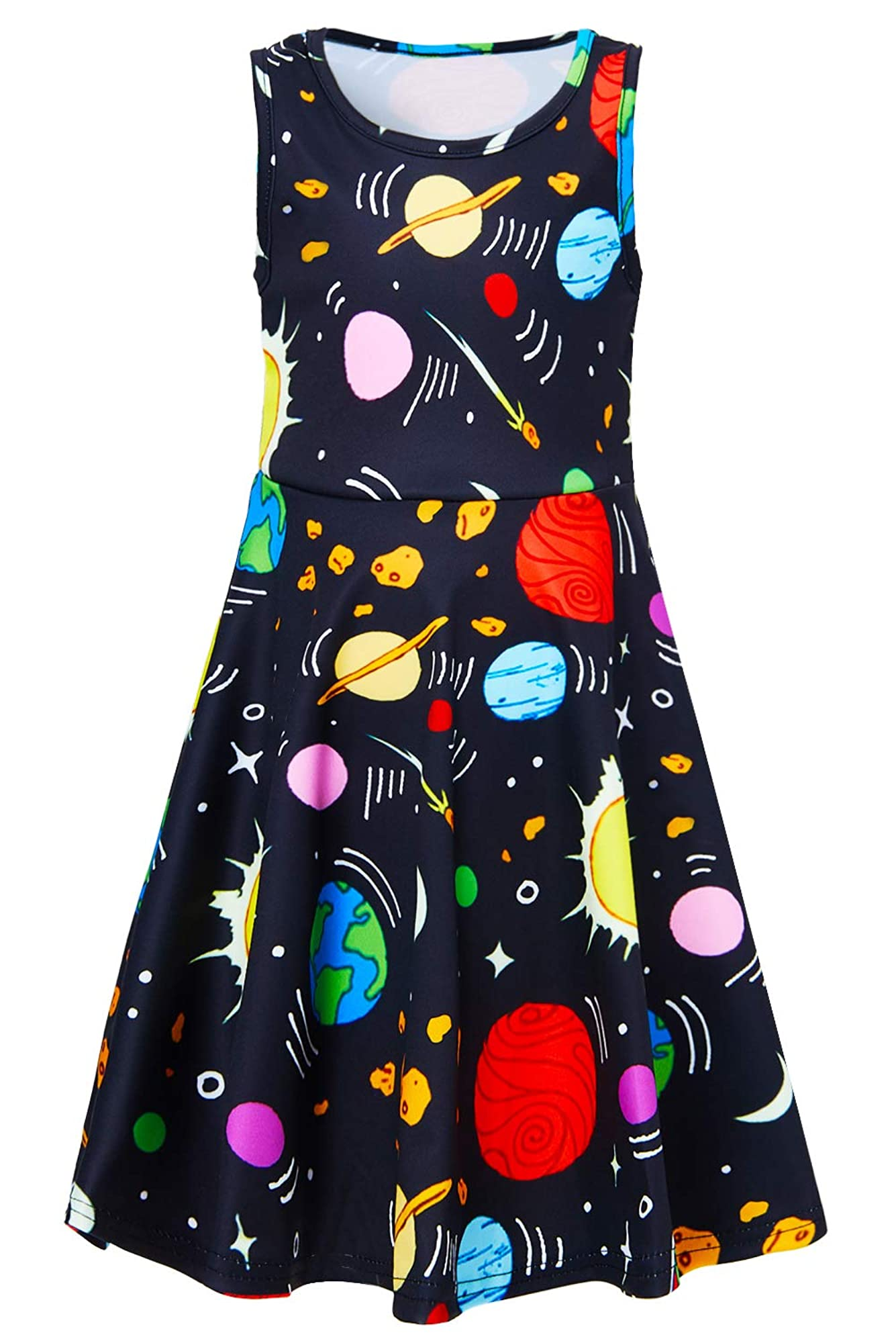 Casual One-Piece Sundress For Girls