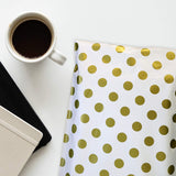 Gold Polka Dot Design Shipping Envelopes