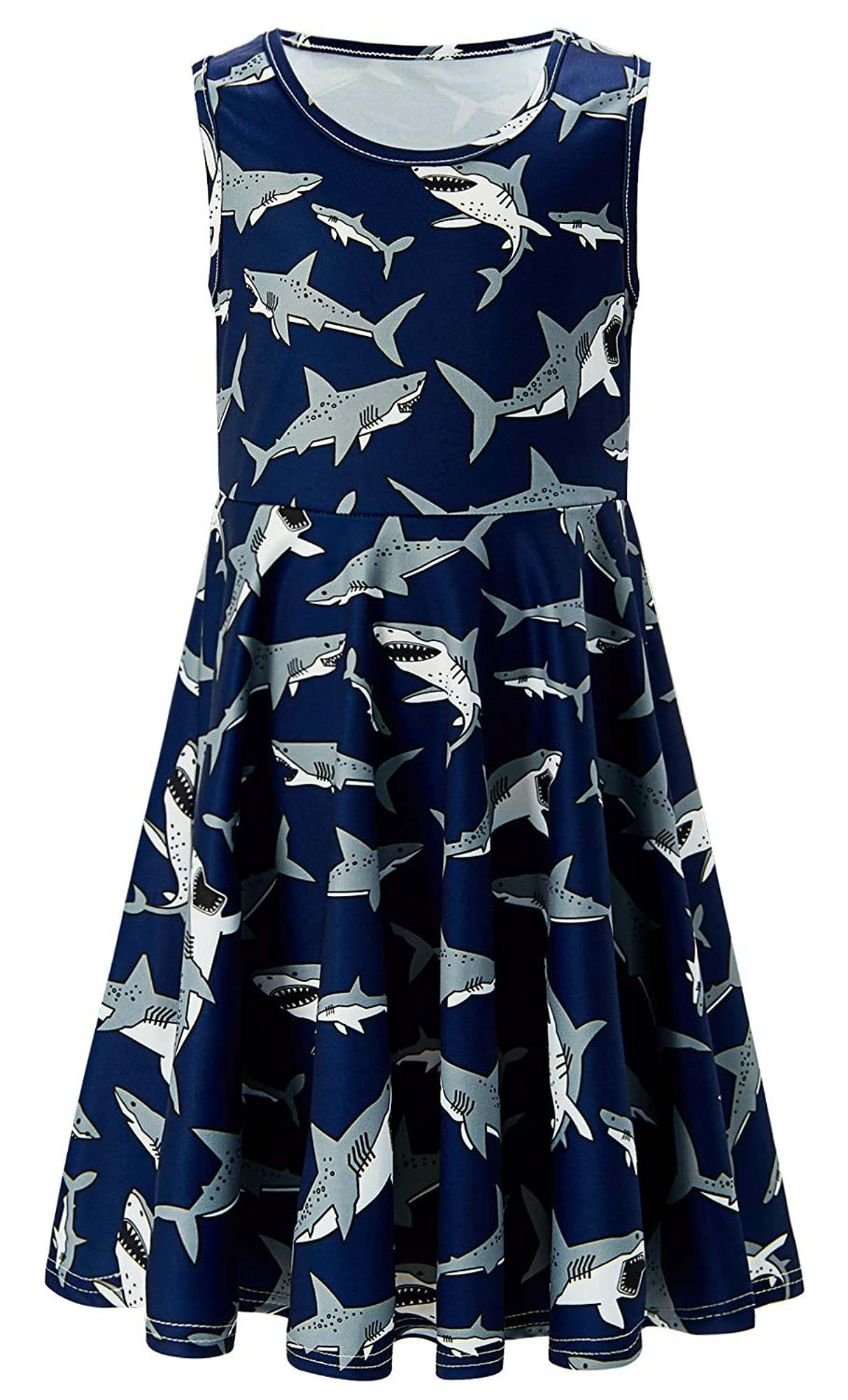 Casual Sleeveless Printed Dress