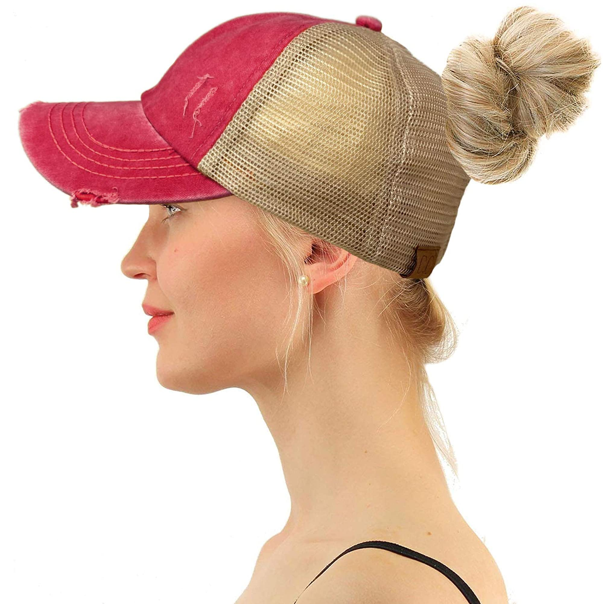 Ponytail Criss Cross Messy Hats