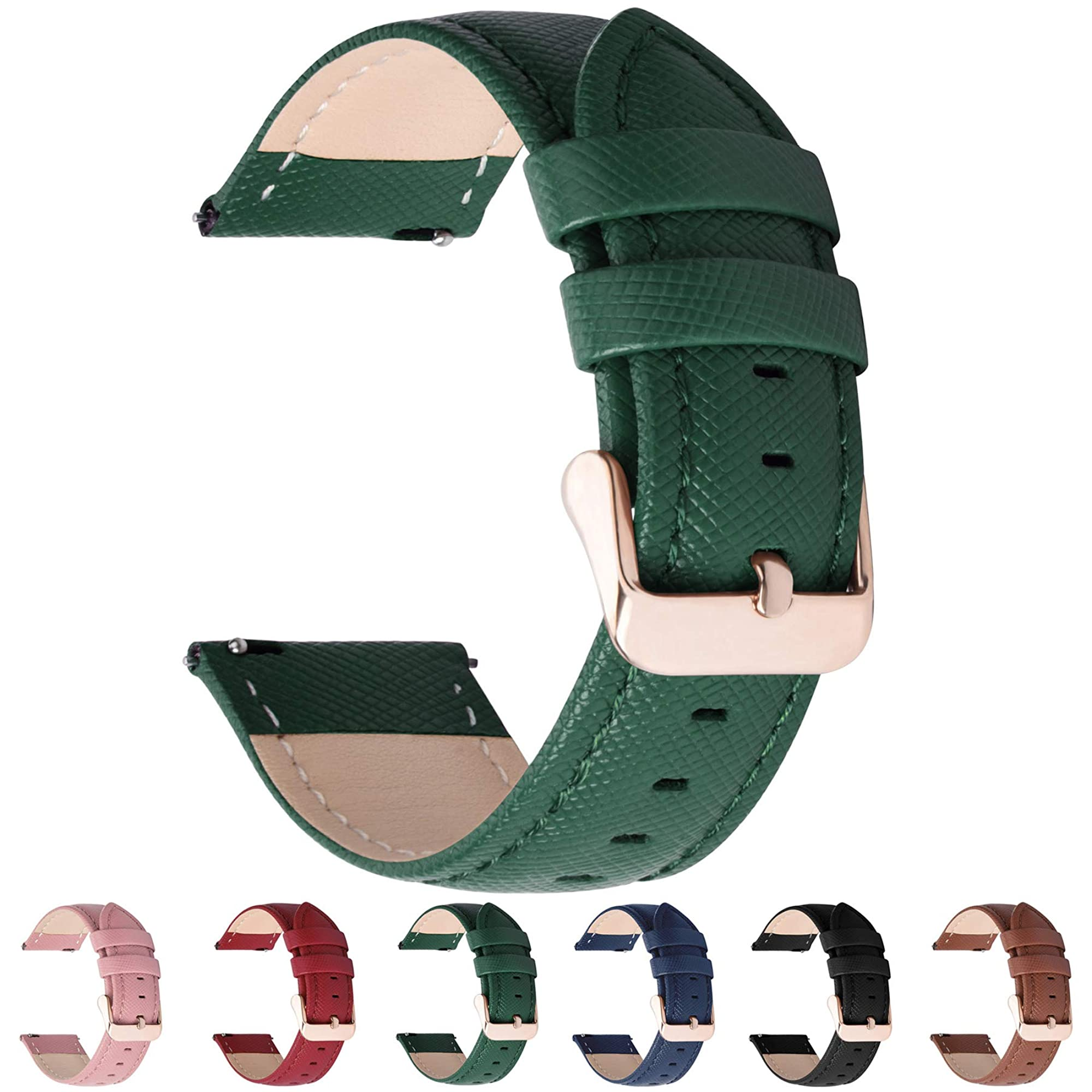 Leather Watch Band For Men & Women