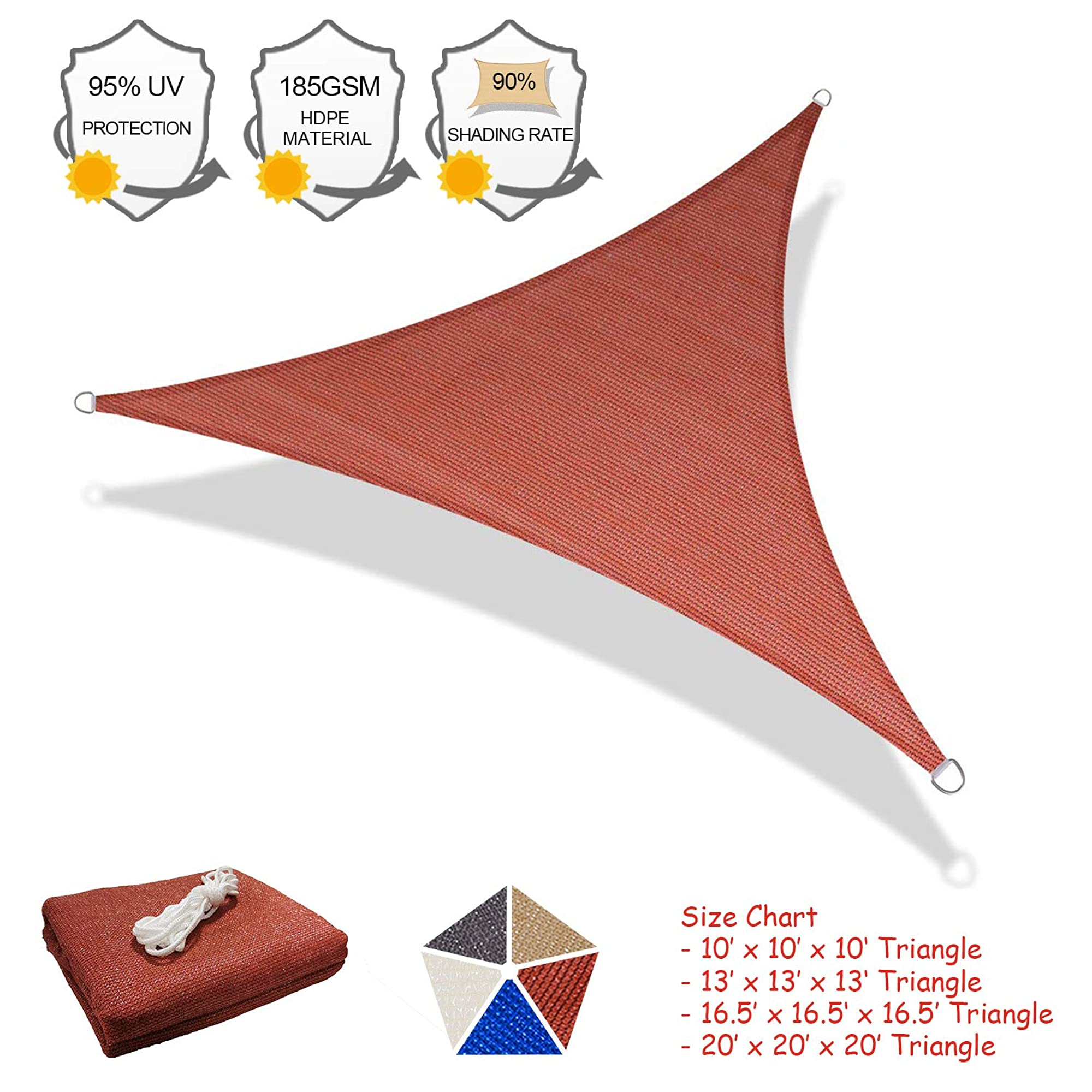 Triangle Sun Shade Sail. Sun Protection