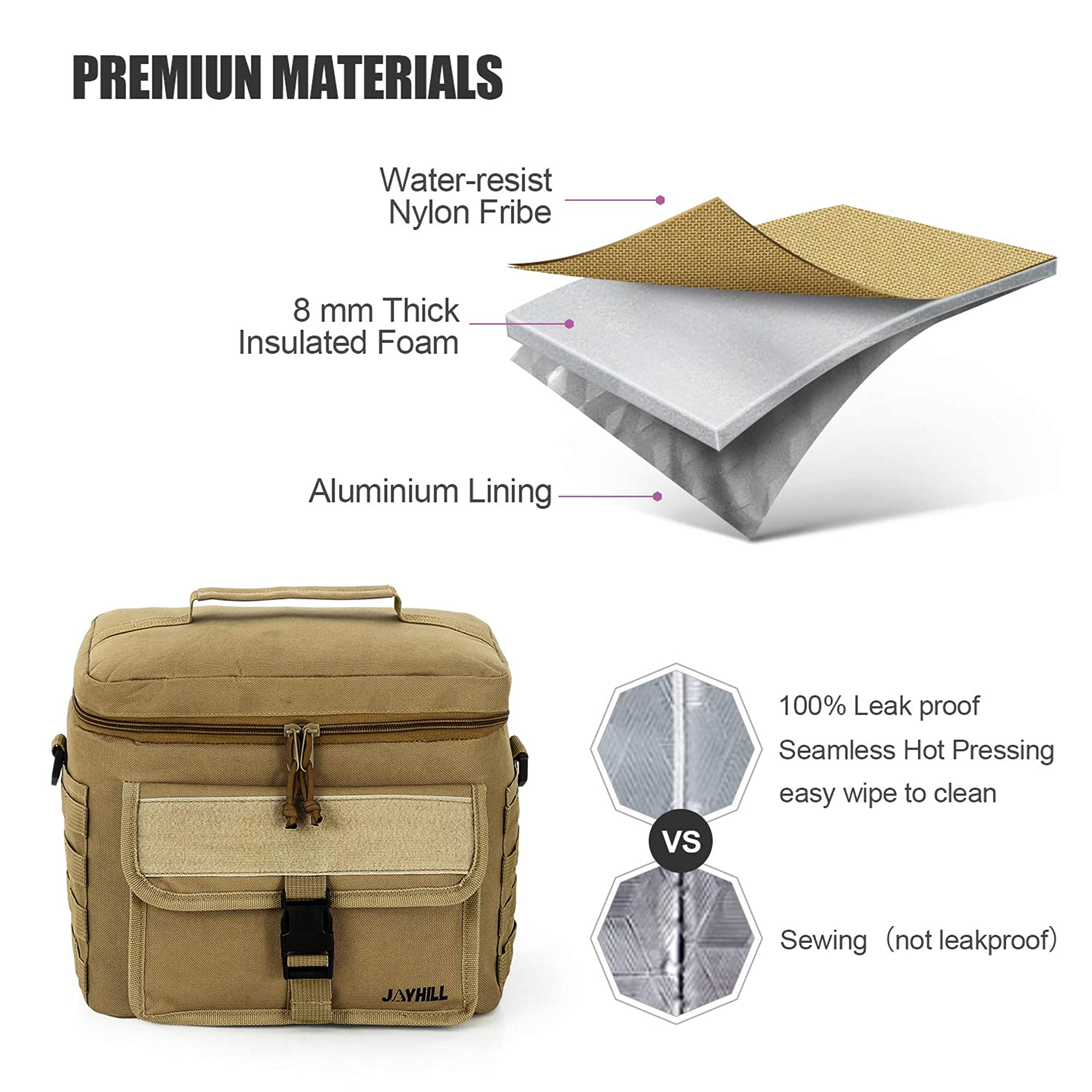 Insulated Lunch And Tote Bag For Men