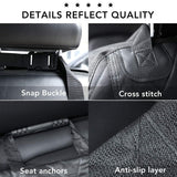 Pet Car Seat Cover - Nonslip Back, Waterproof & Scratch-Proof