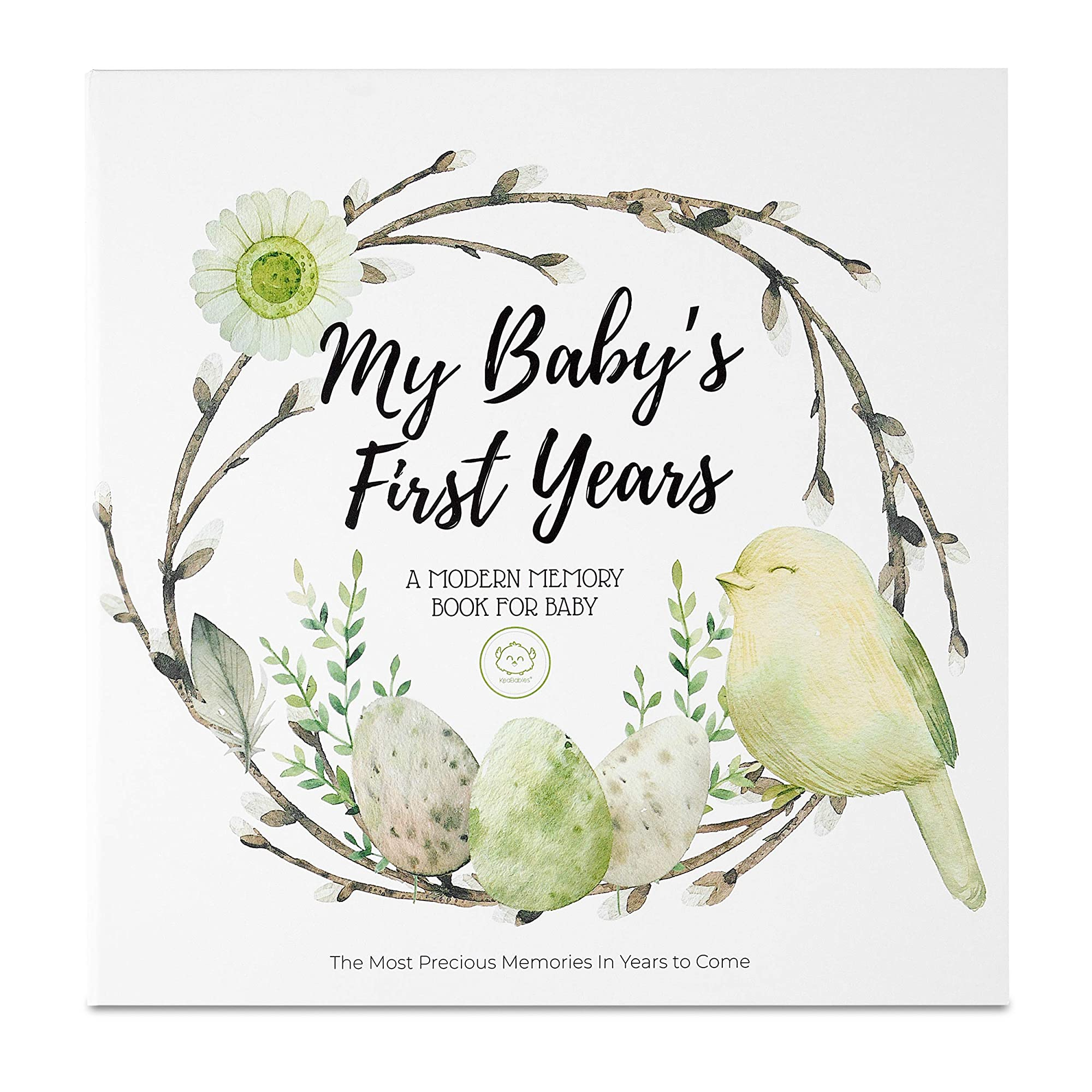 90 Pages Hard Cover Memory Book For Baby'S First Five Years