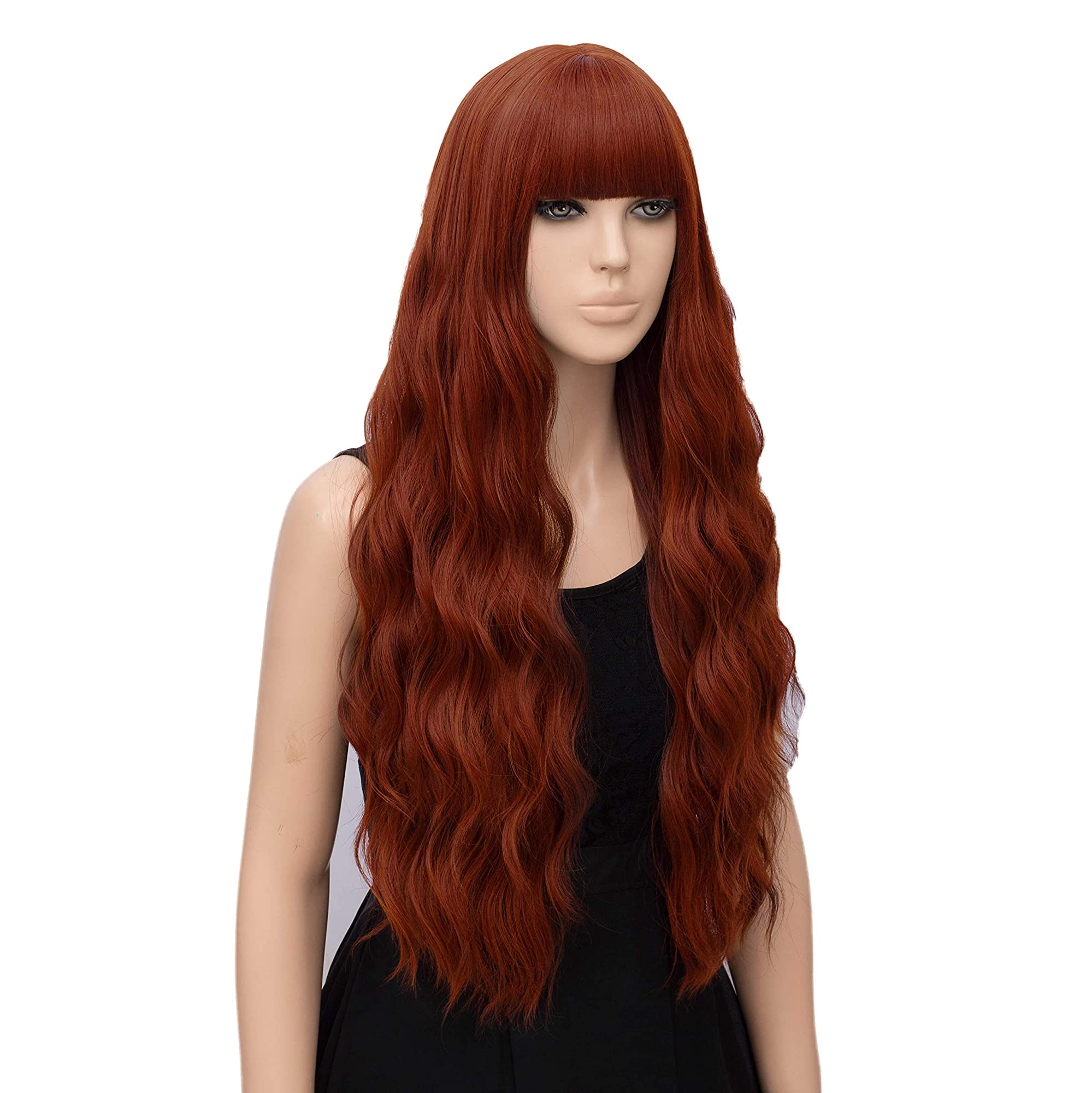 Women Long Wavy Heat Resistant Fiber Wigs