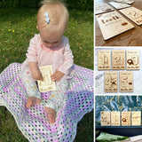 Wooden Jungle Design Monthly Milestone Cards For Babies