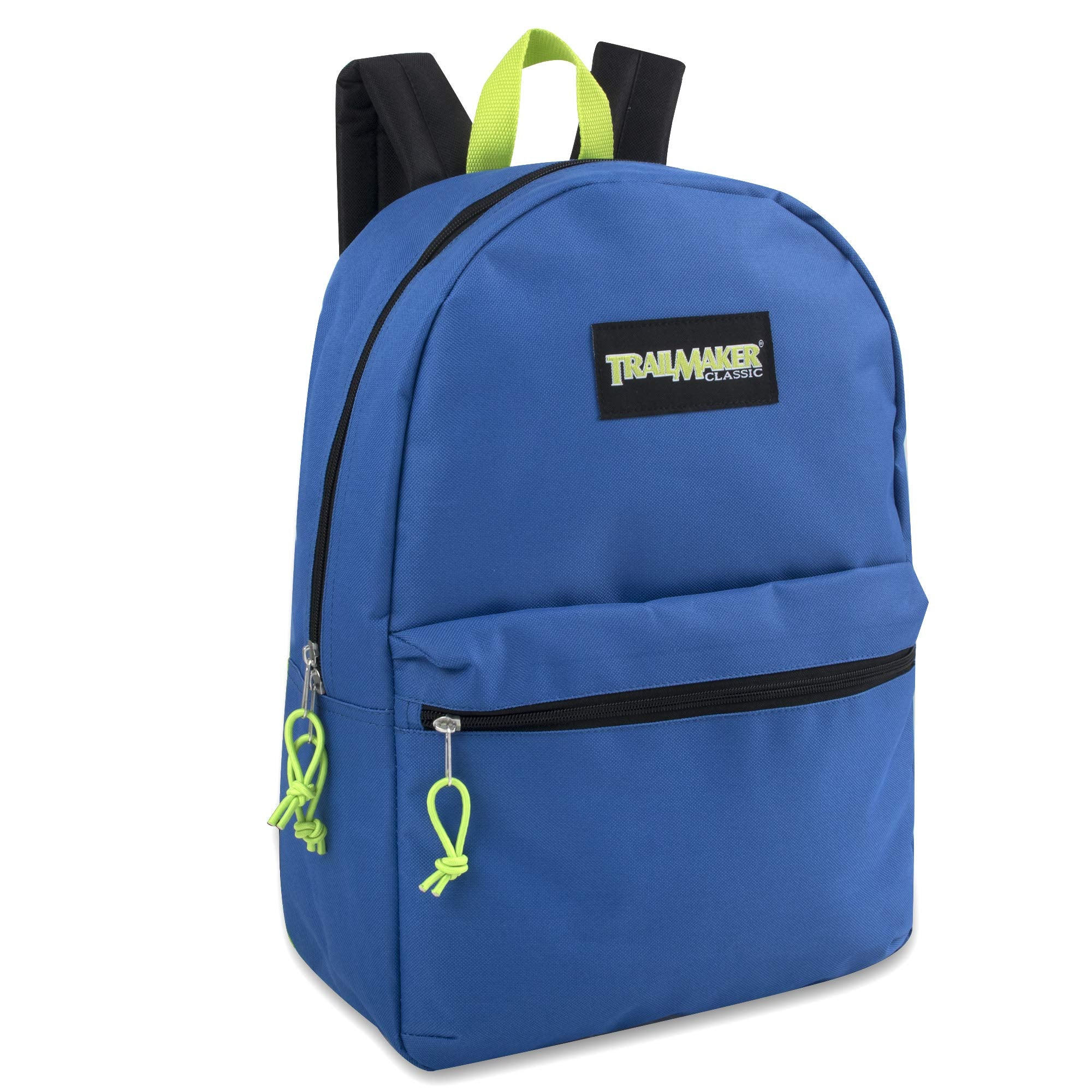 Solid 17 Inch Backpacks With Adjustable Padded Shoulder Straps