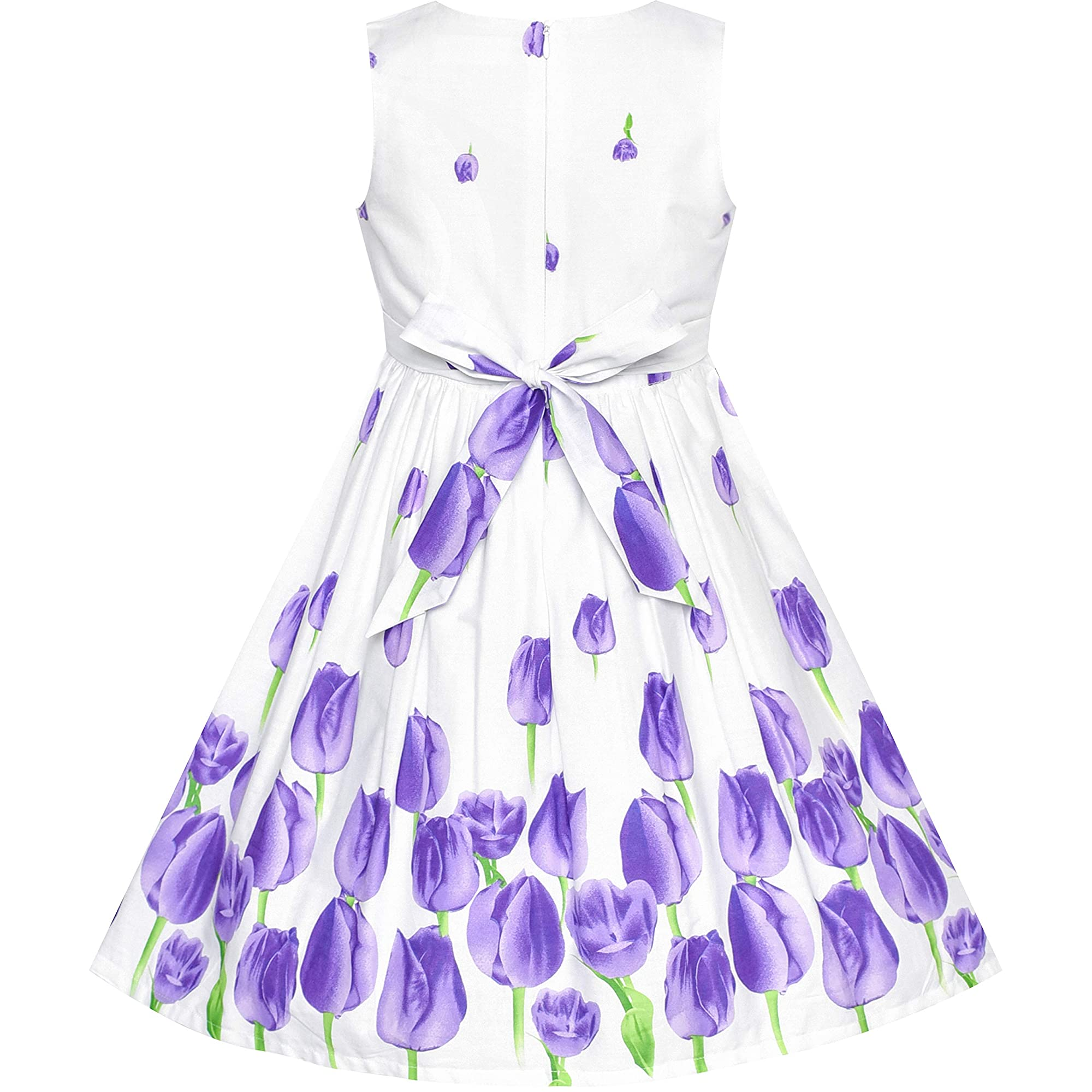 Fashion Bow Tie Printed Party Dress