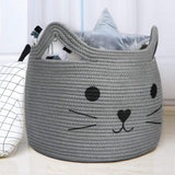 Large Woven Cotton Rope Storage Basket