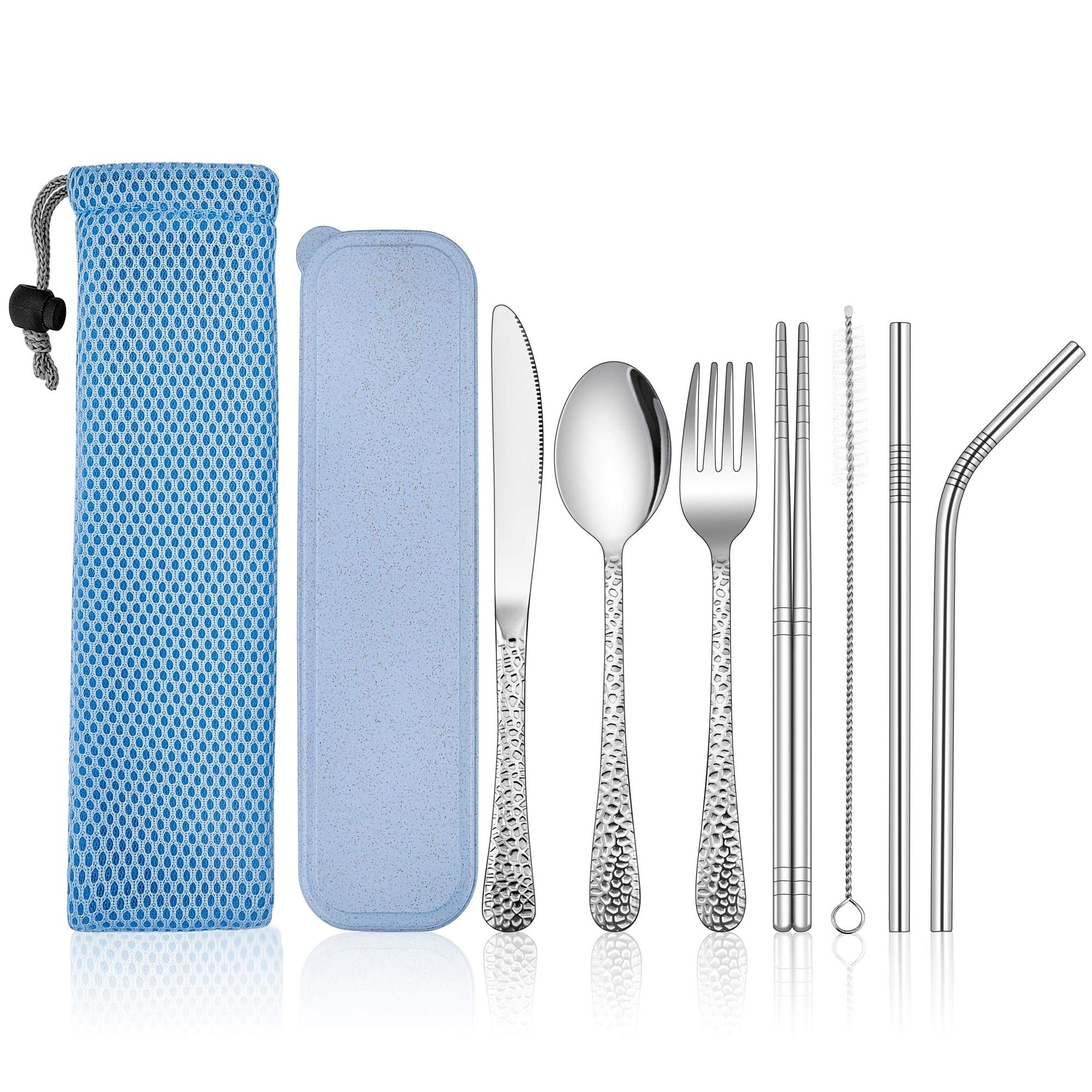 Travel Silverware With Case Bag