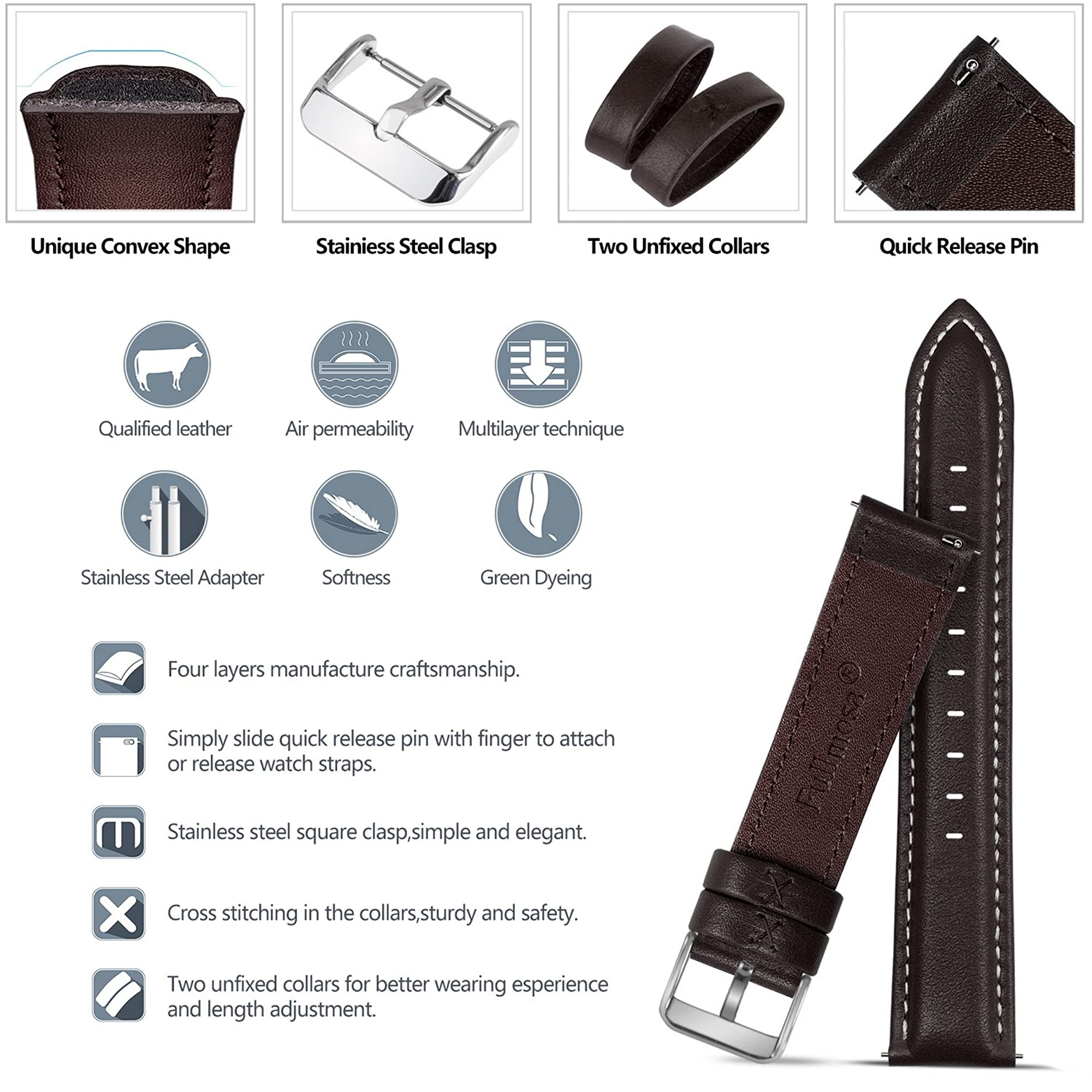 Leather Watch Bands For Men And Women