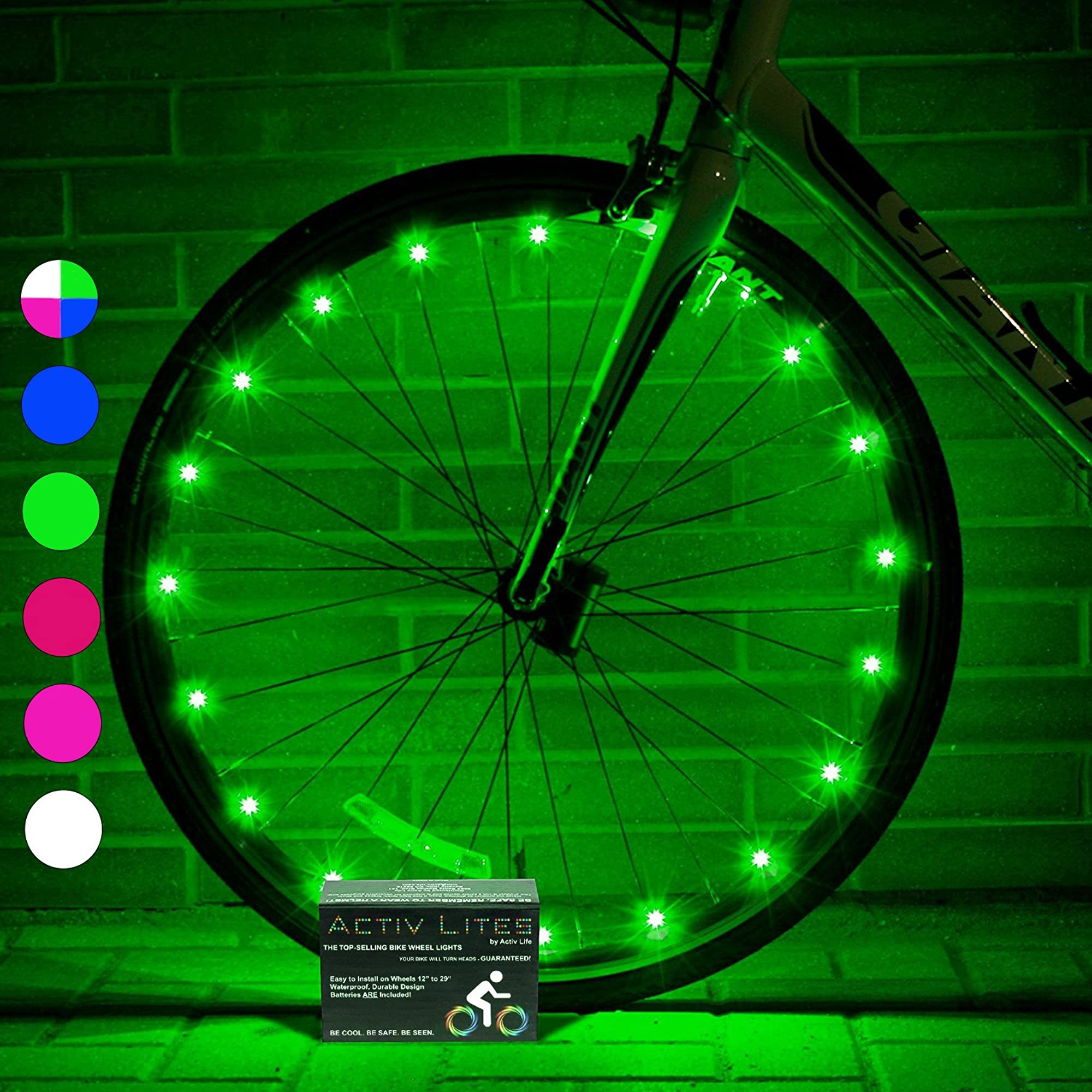 Bike Wheel Lights With Batteries Included! (1 Wheel Pack)