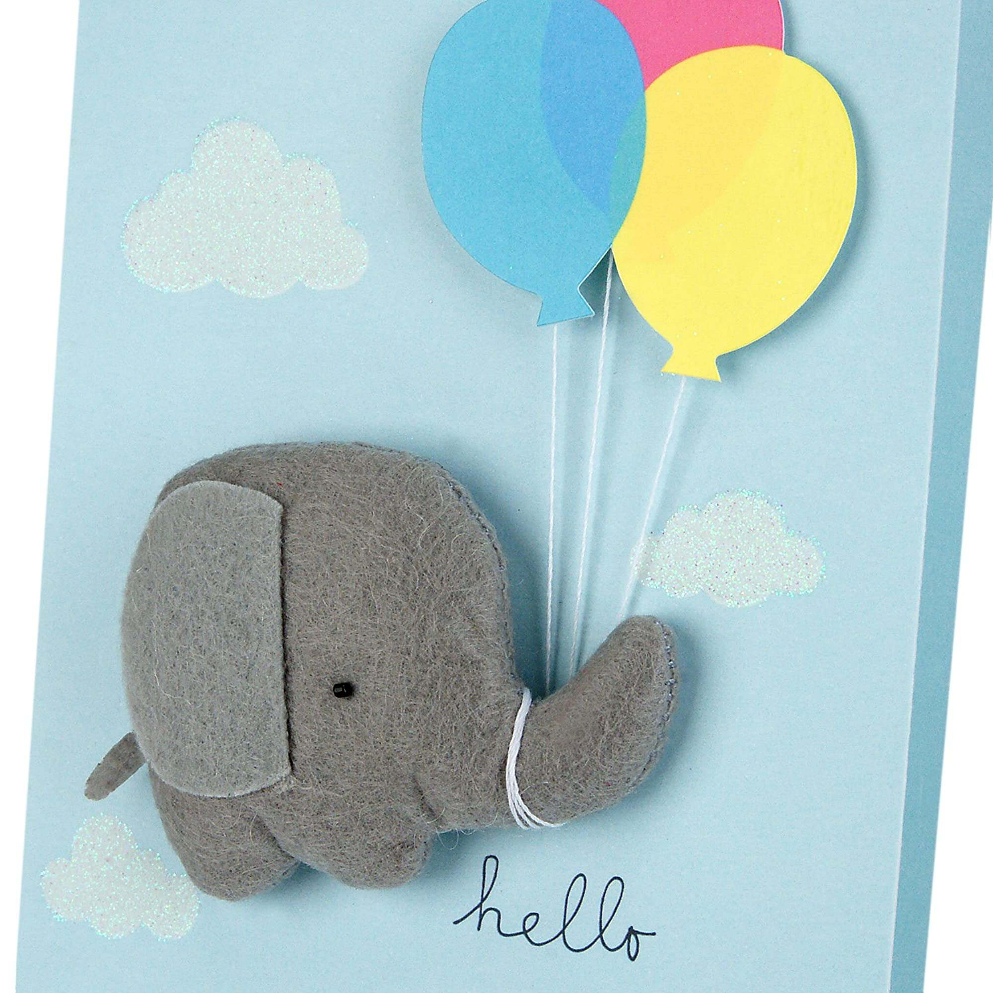 Baby Shower Card Elephant With Baloon Design