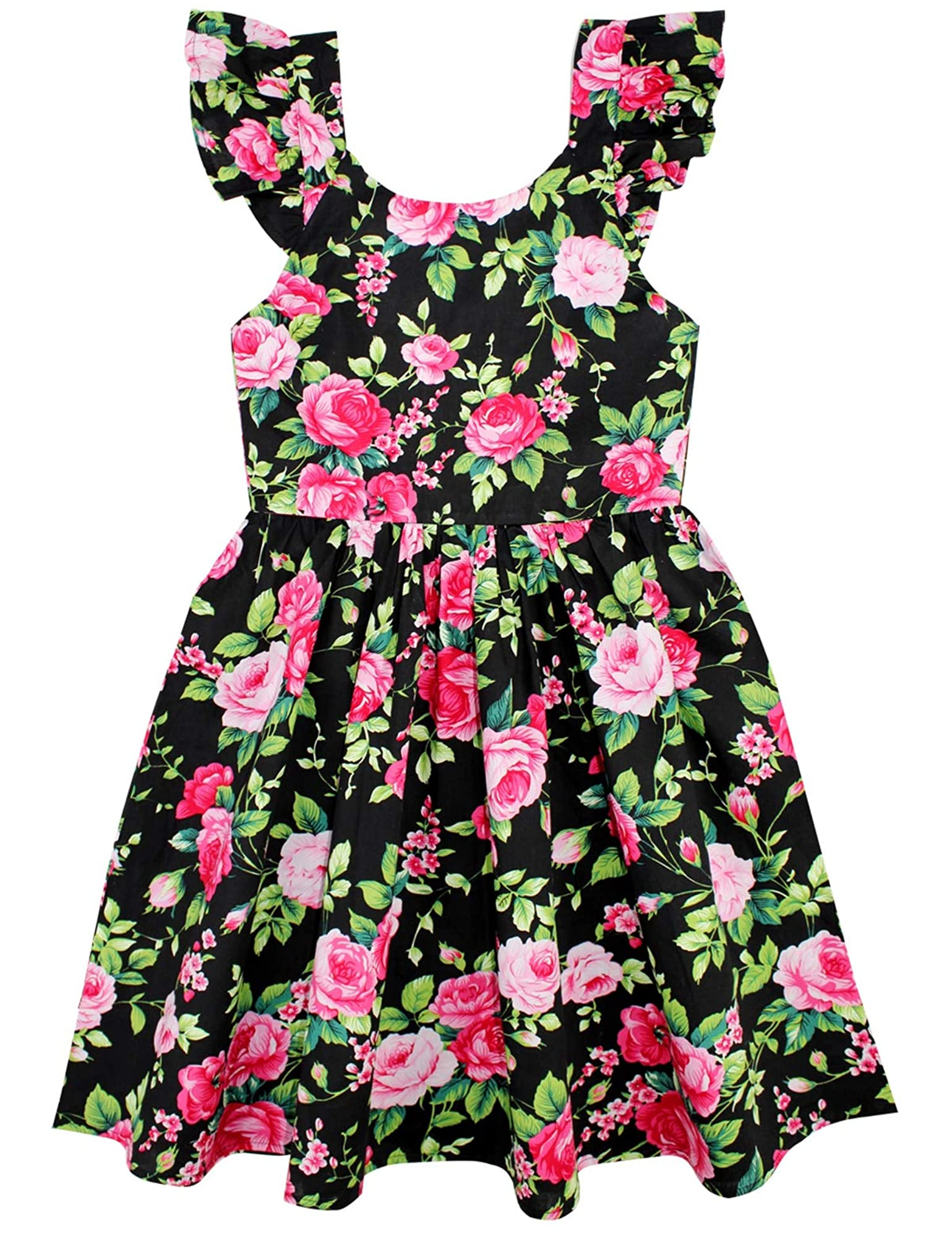 Floral Print Sleeveless Summer Dress