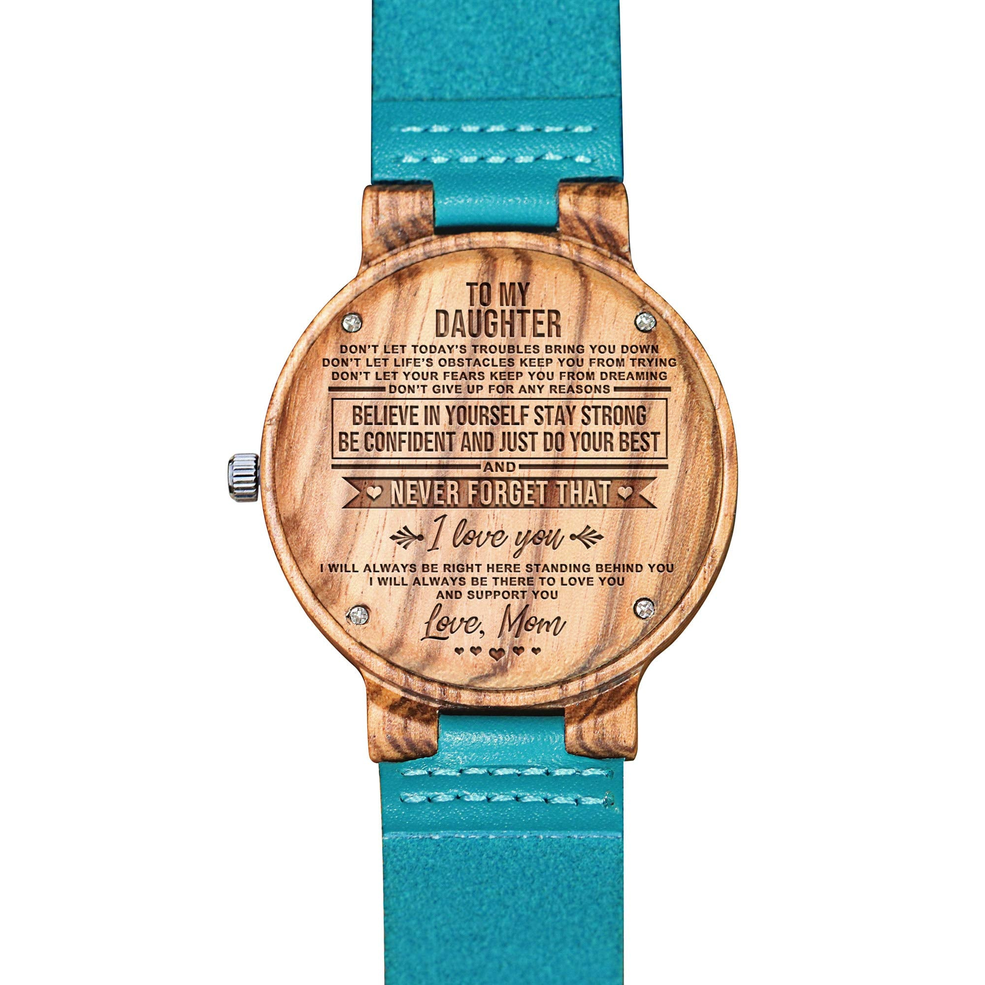 Engraved Wooden Watch For Women