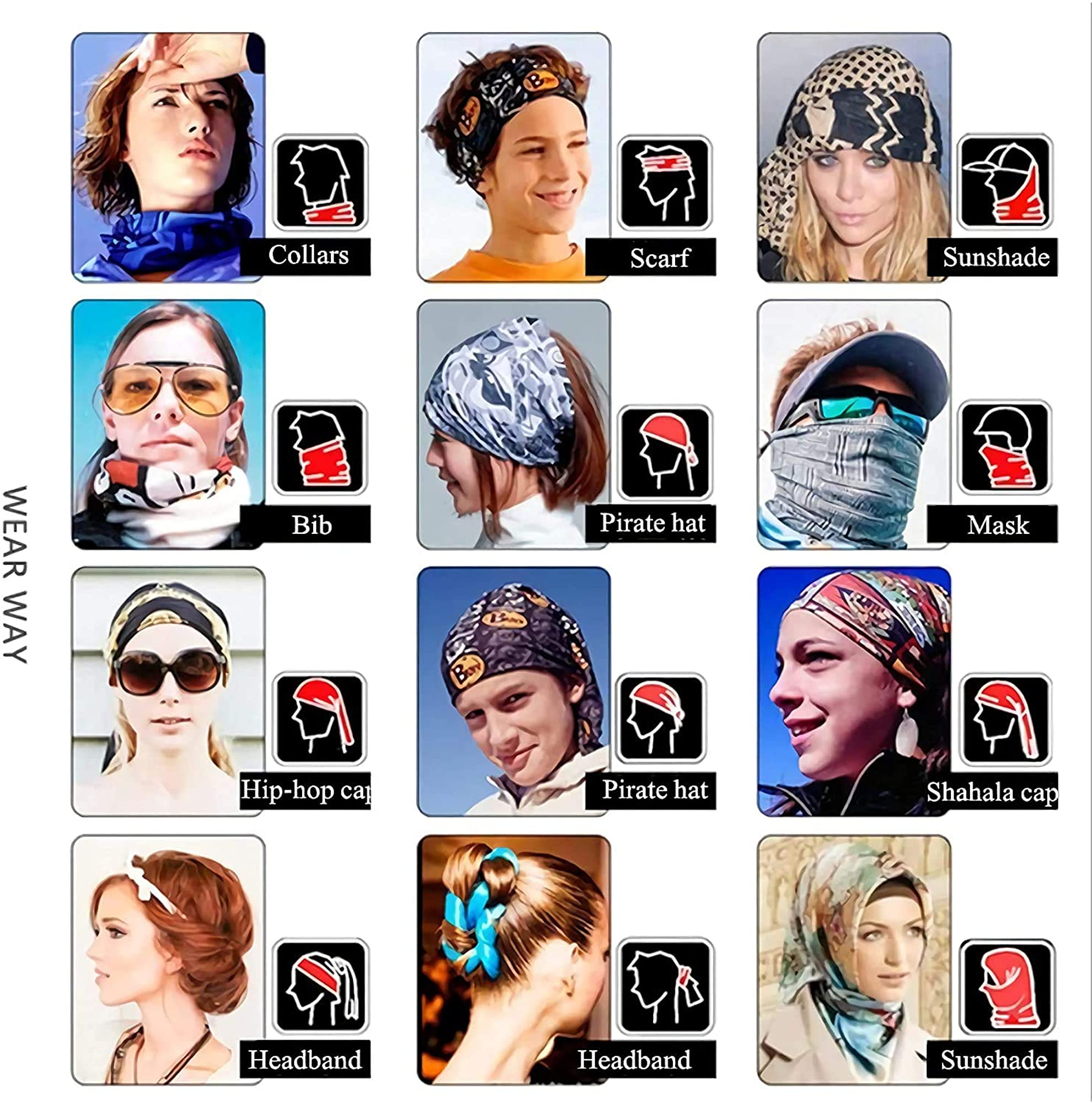 Dust And Windproof Face Scarf/ Balaclava/ Headwrap