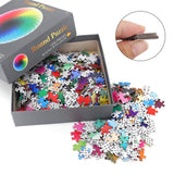 Rainbow Color Round Jigsaw Puzzle
