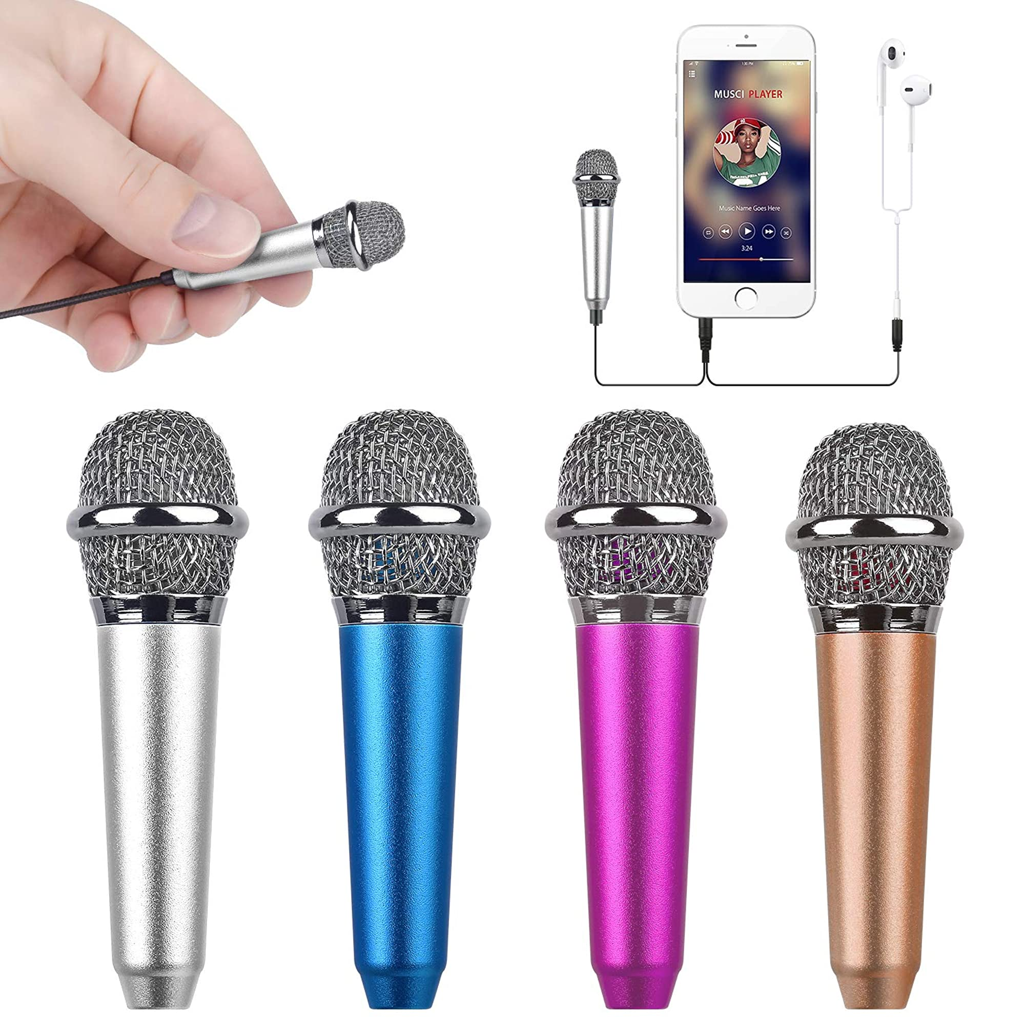 Mini Portable Vocal And Instrument Microphone