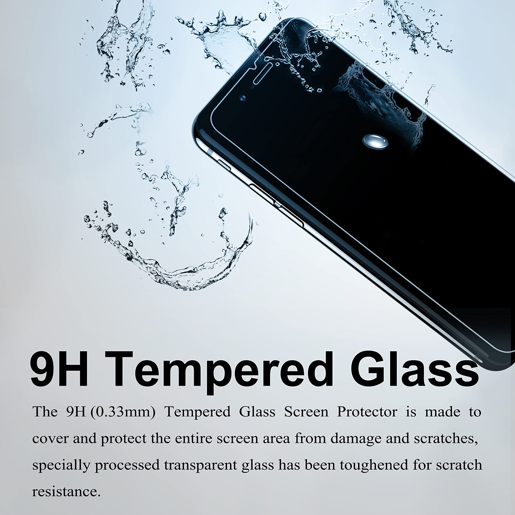 Screen Protector With Tempered Edge Glass And Anti-Scratch Case.
