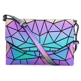 Geometric Luminous Purses And Handbags Set