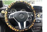 Steering Wheel Cover With Cup Coaster And Keyring