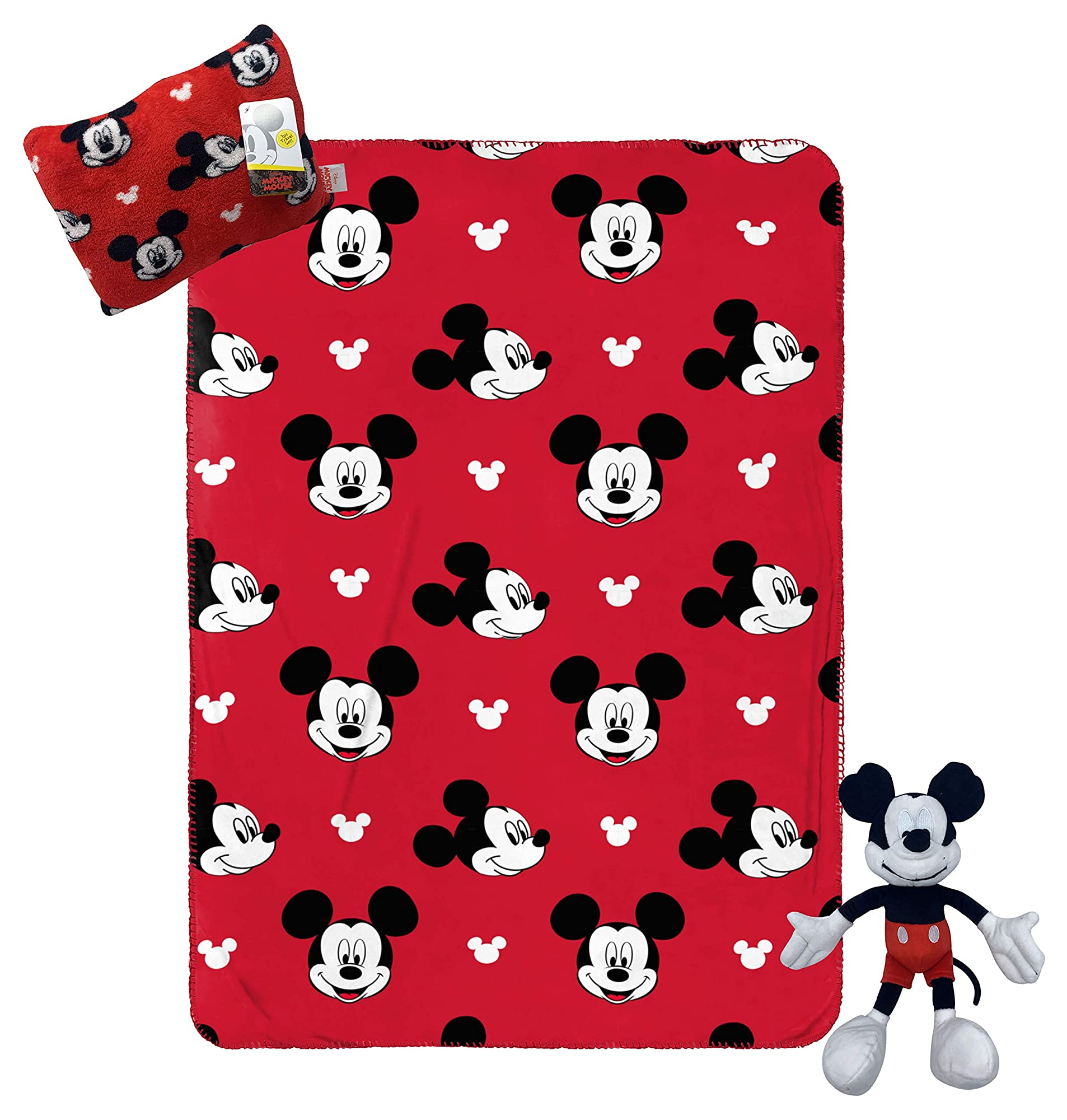 Mickey Mouse Plush Pillow & Blanket Set