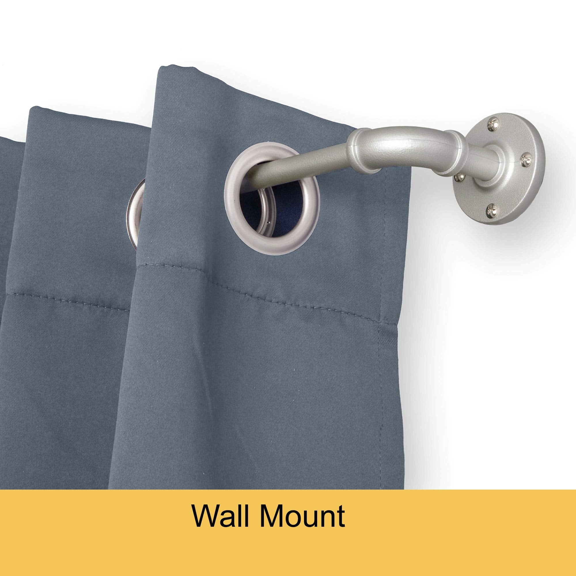 Rust-Resistant Wrap Around Curtain Rod