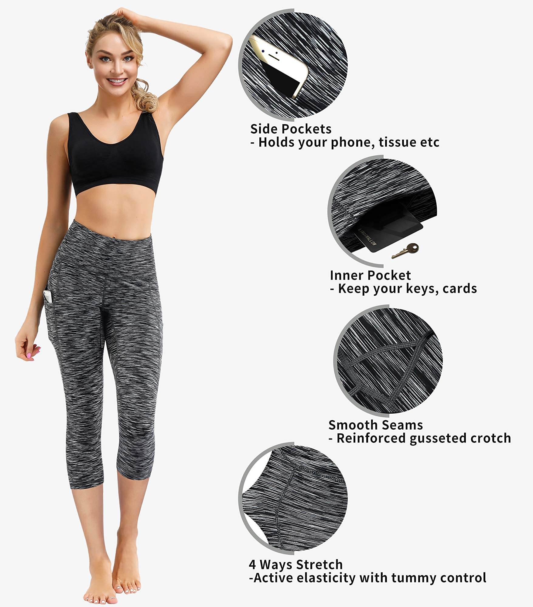 High Waist Yoga Pants With Pocket