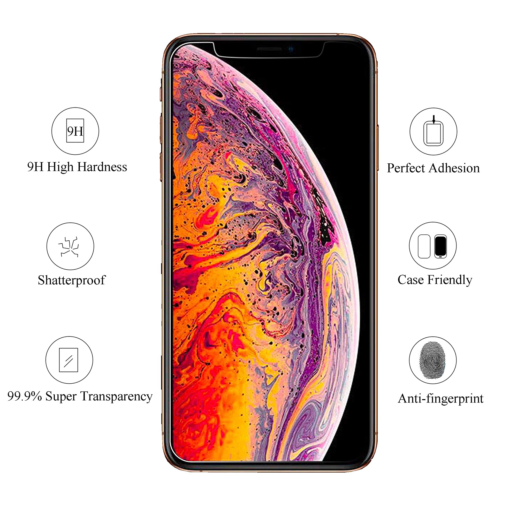 3 Pack Screen Protector For Iphone 11 Pro Max/Iphone Xs Max.