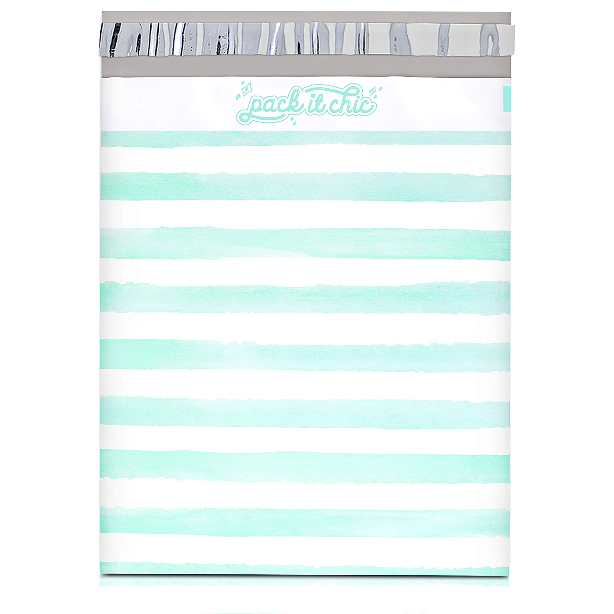 Horizontal Striped Shipping Envelopes