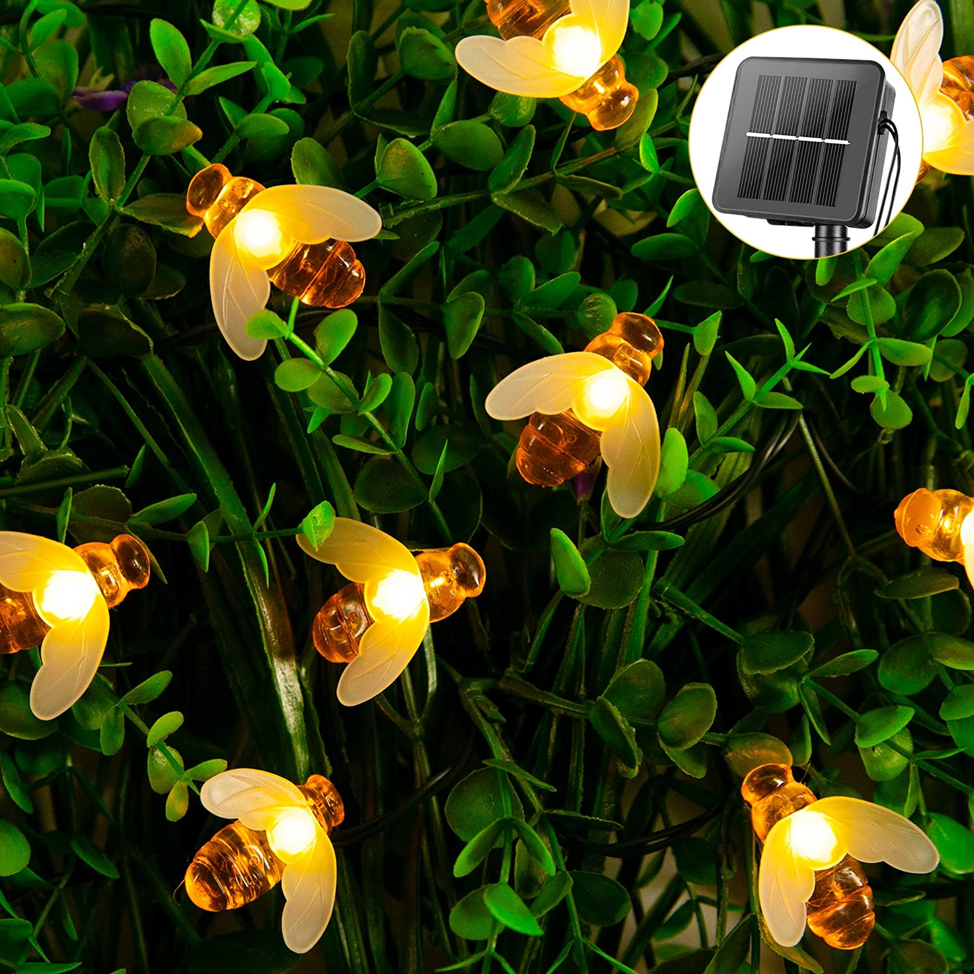 Bumble Bee Solar String Lights
