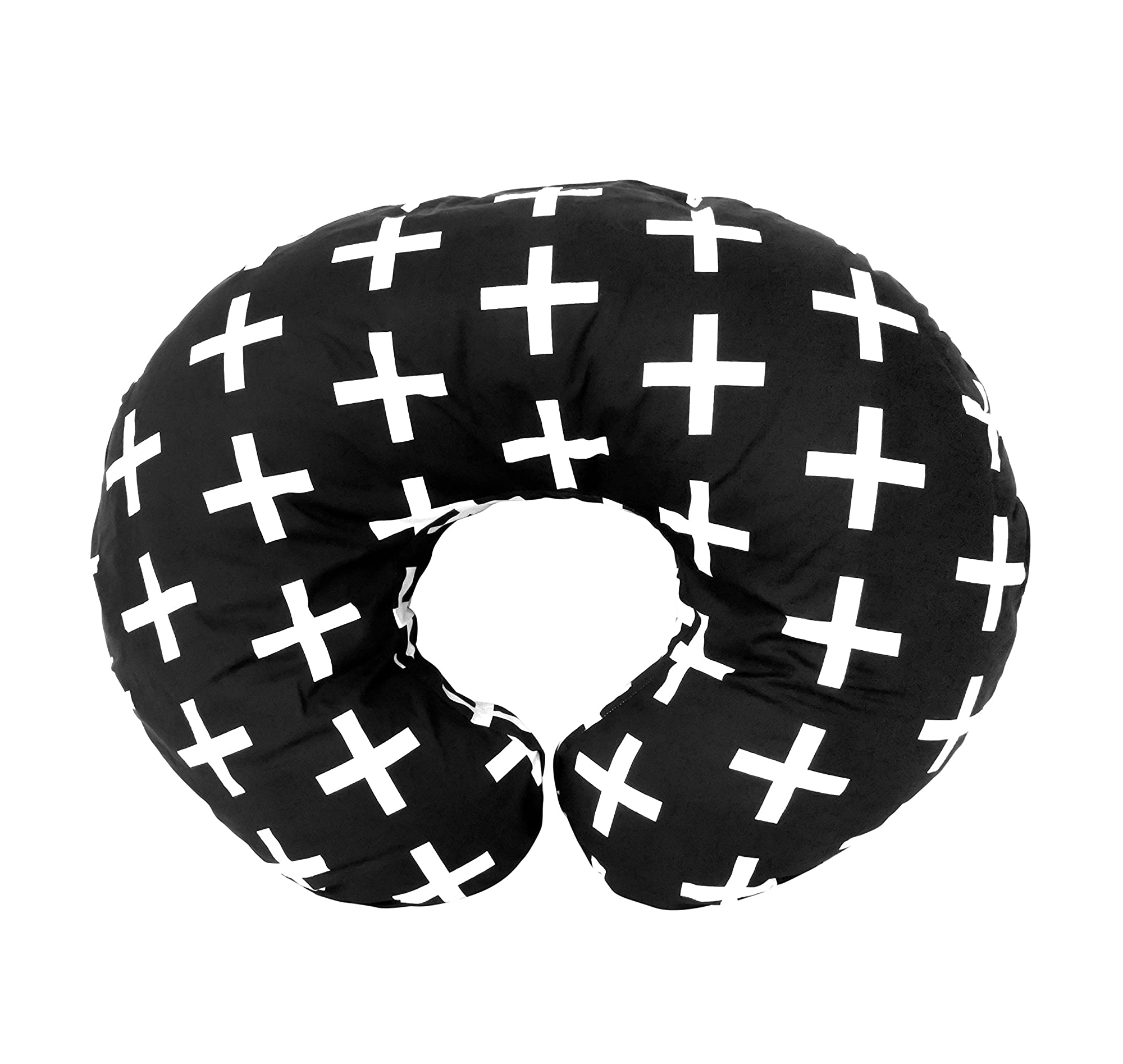 Nordic Swiss Cross Design Nursing Pillow Cover