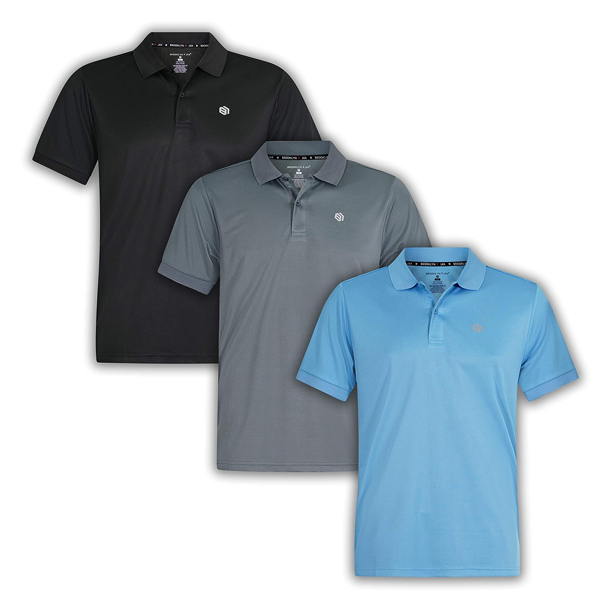 Short-Sleeve Polo T-Shirts For Men (Pack Of 3)