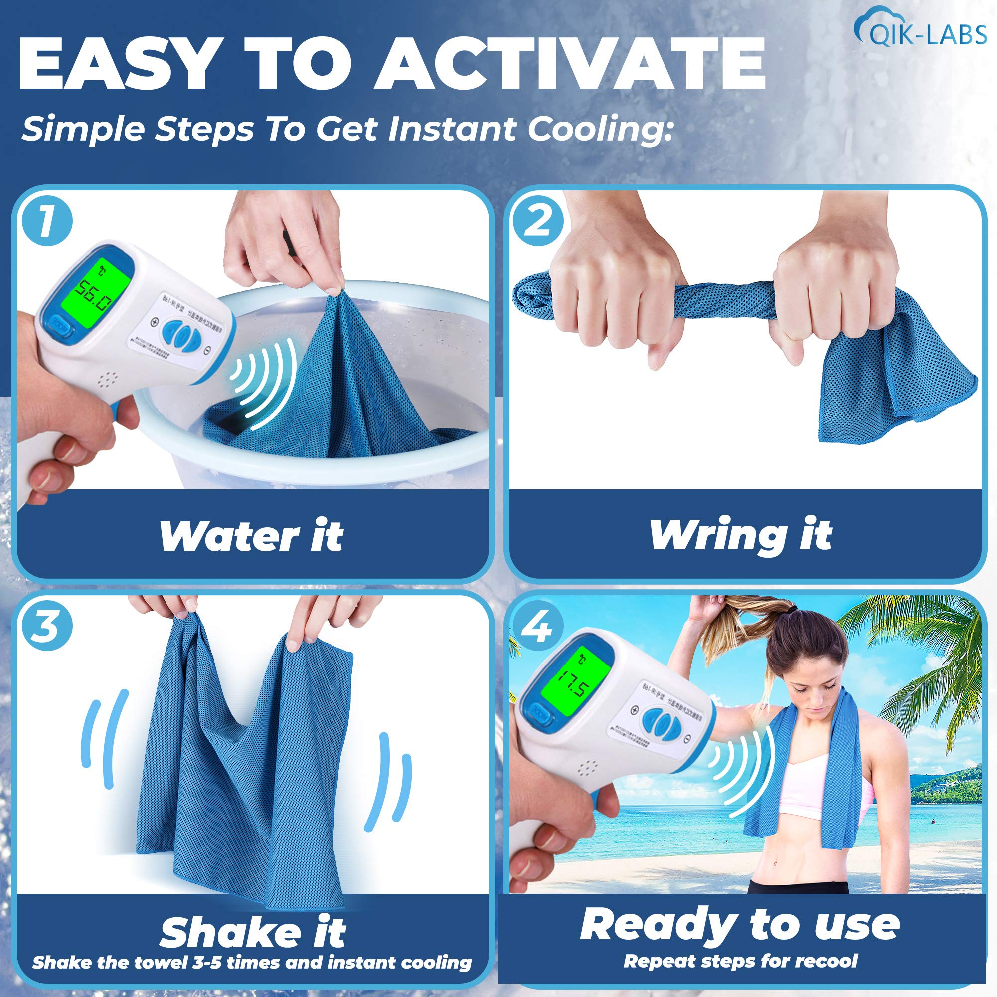 Cooling Towels For Neck (Pack Of 4)