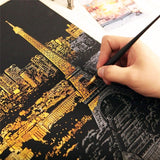 World Famous City  View Creative Scraping Sketchpad