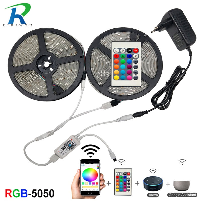 WiFi LED Strip Light RGB Waterproof SMD 5050 2835 DC12V WiFi Contoller+Adapter plug