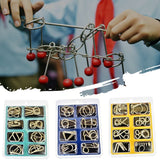 3D Metal Puzzle Mind Brain Game 8Pcs/Set Interactive Anti-Stress Game Educational Toy