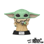 POP! Star Wars: The Mandalorian - The Child with Pendant with Boss Protector