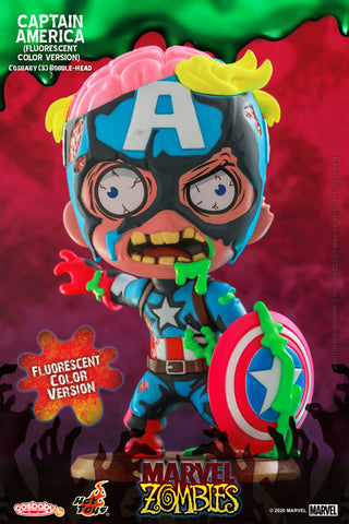 Marvel Zombies: Captain America (Flourescent Color) Bobble-Head
