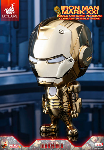 Iron Man 3: Iron Man Mk XXI Gold Chrome Bobble-Head Figure