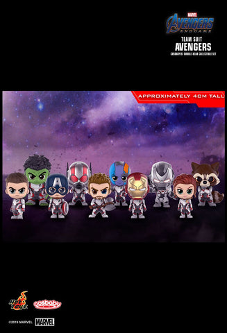 Avengers Endgame: Team Suit Avengers Bobble-Head Collectible Set (10-Pack mini figures)