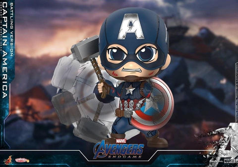 Avengers Endgame: Captain America (Battling Version) Bobble-Head