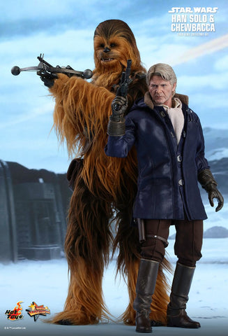 Star Wars: The Force Awakens Hans Solo and Chewbacca 1/6th Scale Collectible Set