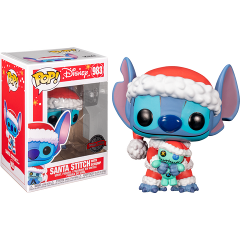 POP! Disney: Lilo and Stitch - Santa Stitch with Scrump