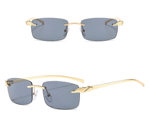Rectangle Rimless Sunglasses #BY01 - LASIDORE Beauty Bar
